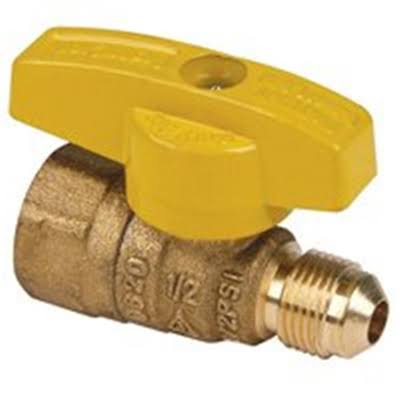 "Brass Craft TBV6F8 Quarter Turn Gas Ball Valve - 3/8"" x 1/2"""
