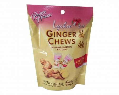Prince of Peace Ginger Chews - Lychee, 4oz