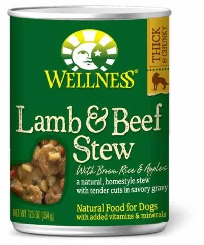 Wellness Canned Dog Food - Lamb & Beef Stew