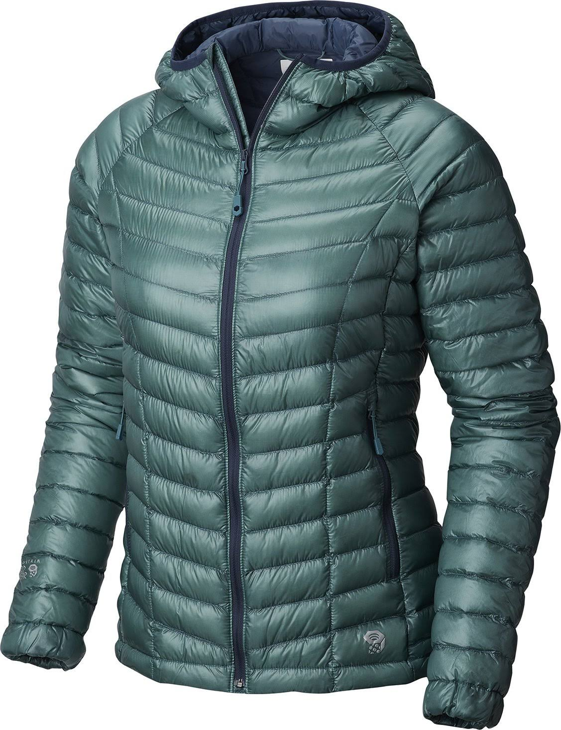 Mountain Hardwear Ghost Whisperer Down Hooded Jacket - Women's Lakeshore Blue / M