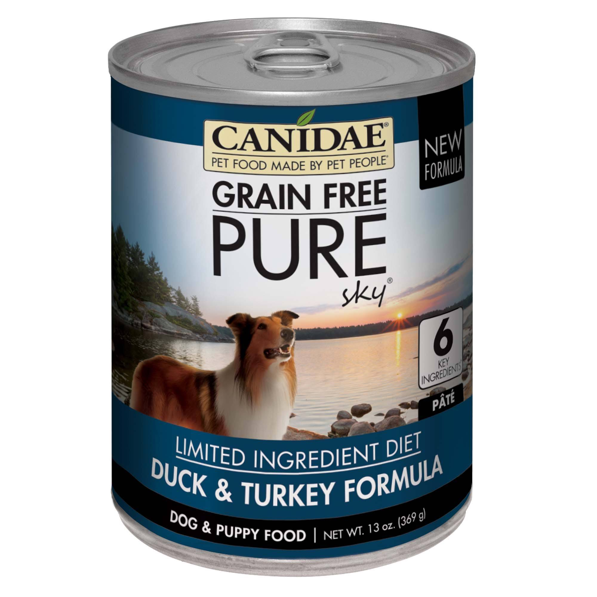 Canidae Grain Free Pure Sky Canned Dog Food - Duck & Turkey Formula, 13 oz