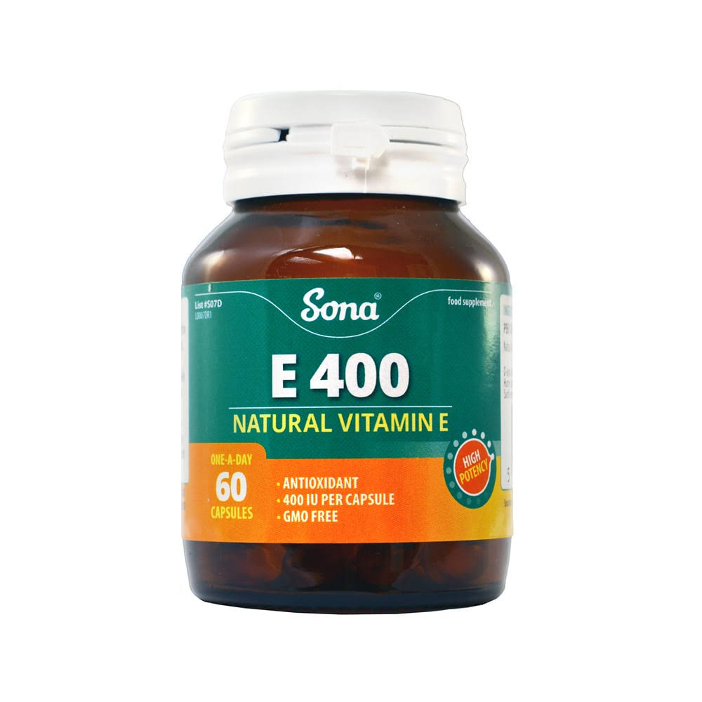 Sona E 400 Natural Vitamin E - 60 Tablets