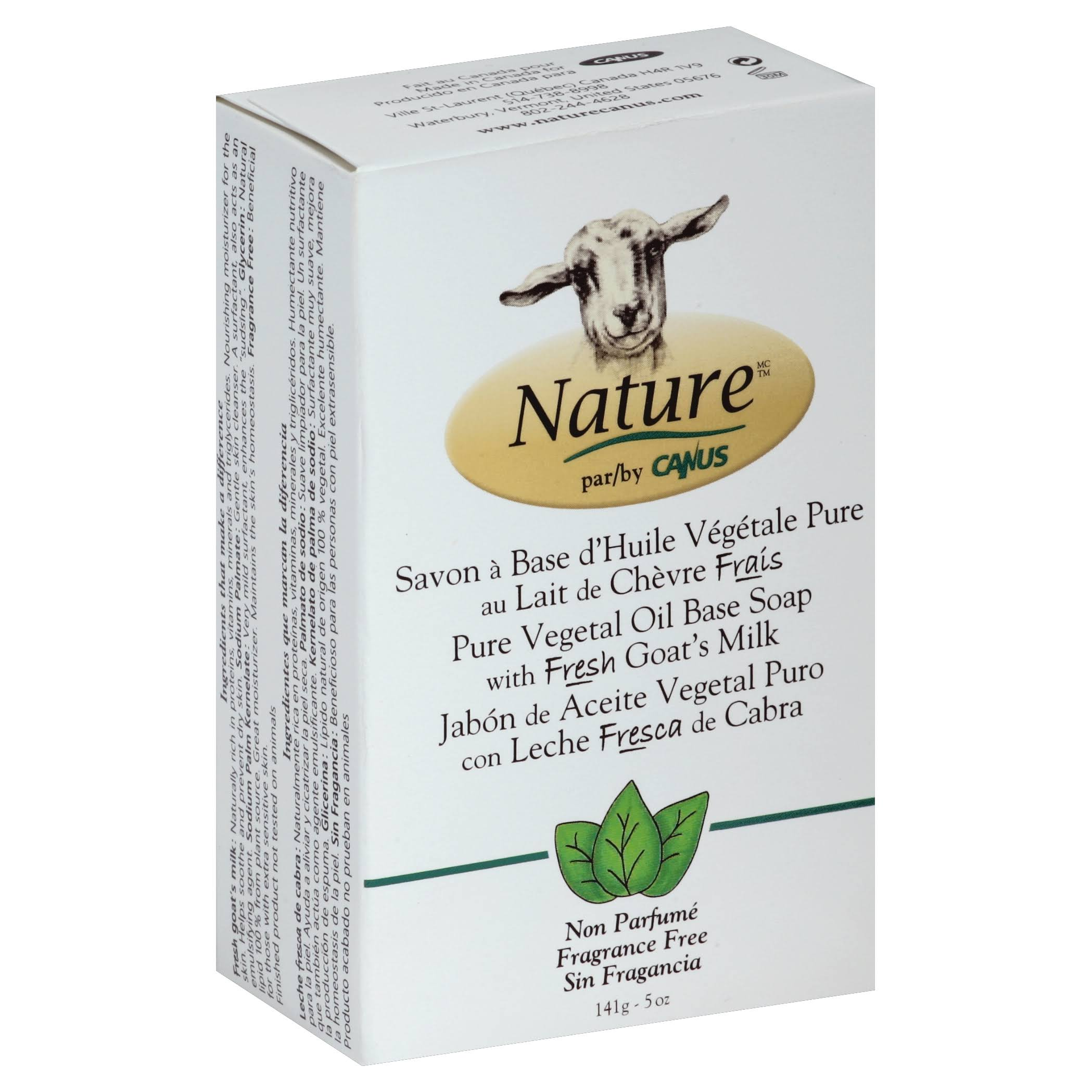 Nature Goat's Milk Soap - Fragrance Free, 5.0 oz