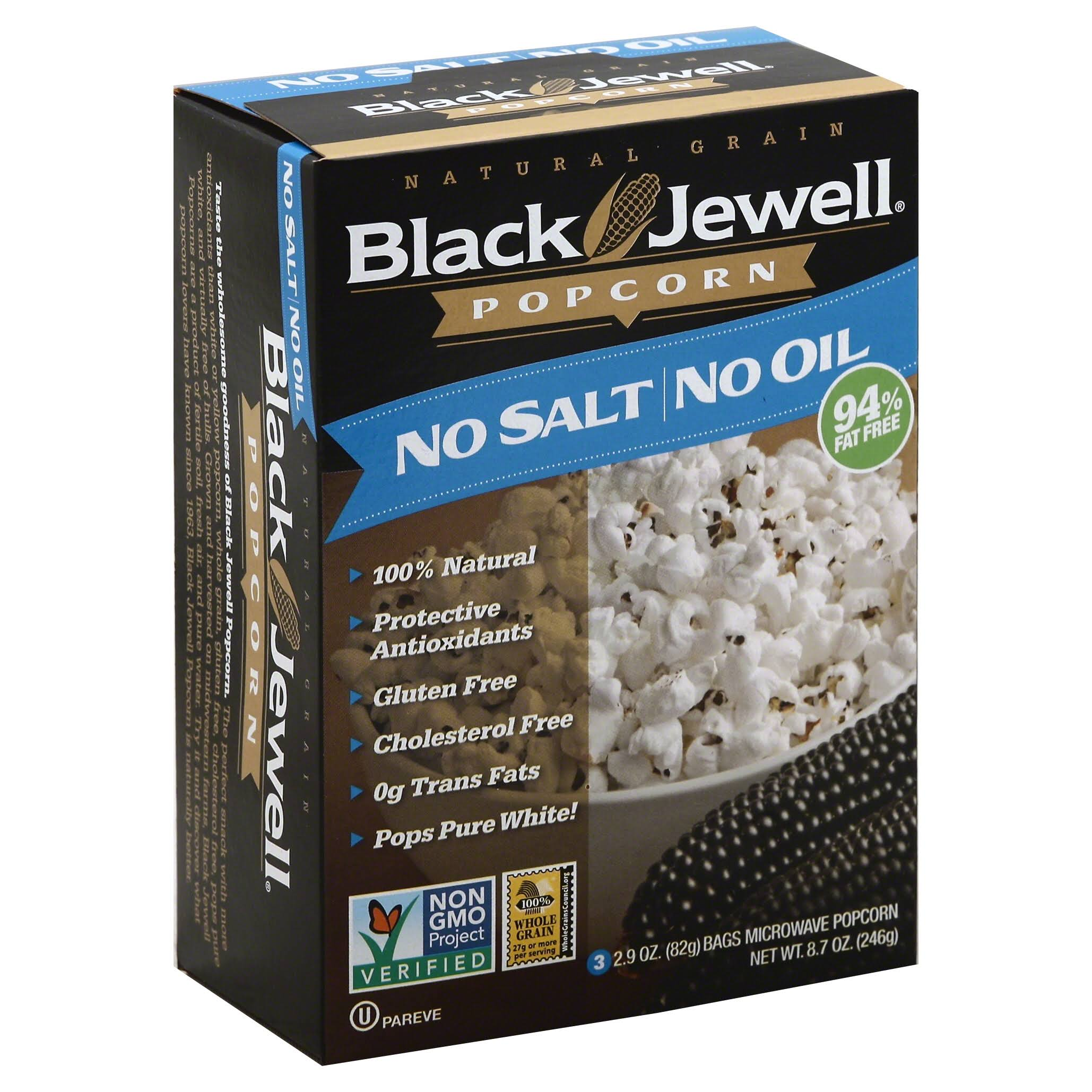 Black Jewell No Salt No Oil Microwave Popcorn - 246g