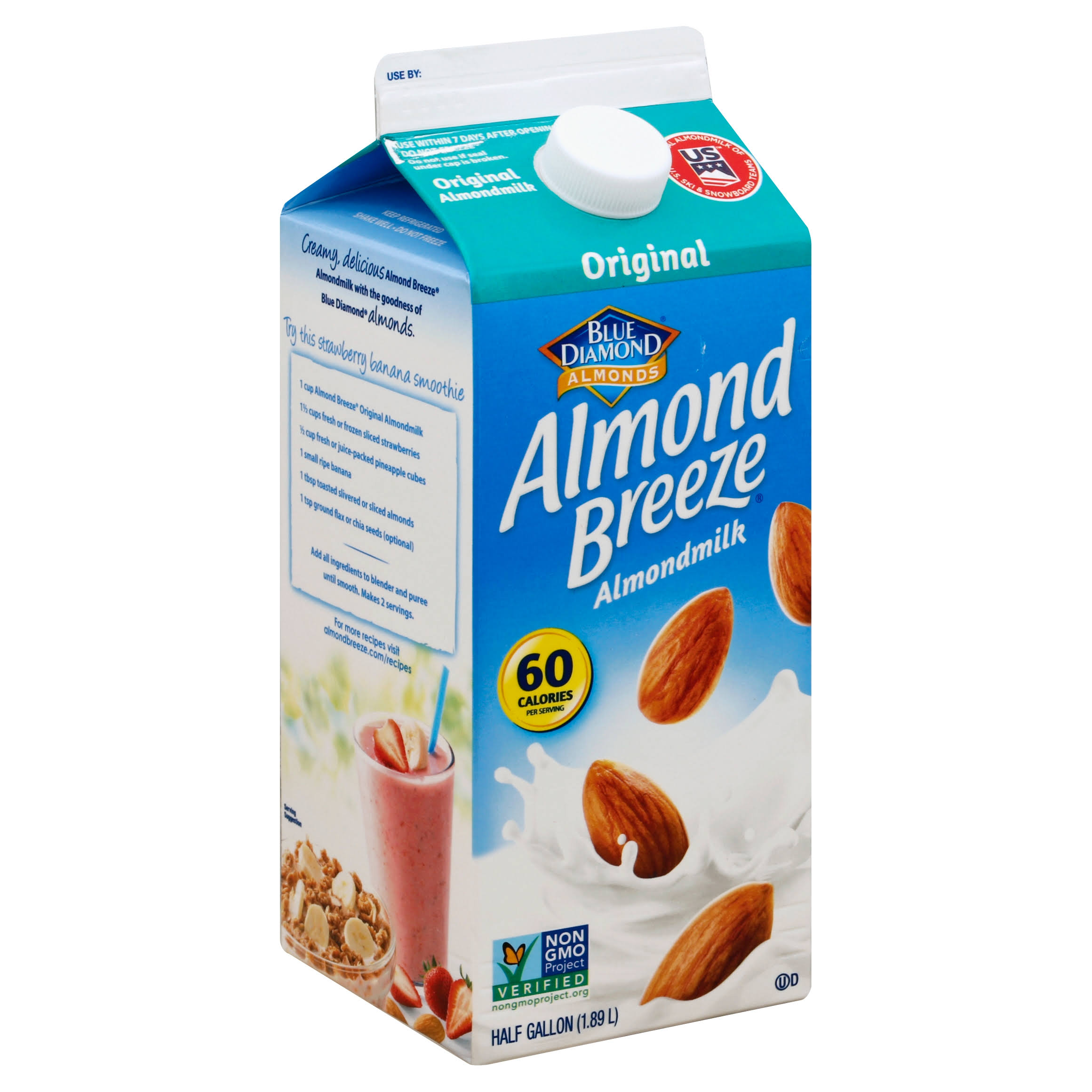 Blue Diamond Almonds Almond Breeze Original Almondmilk - 1/2 Gal