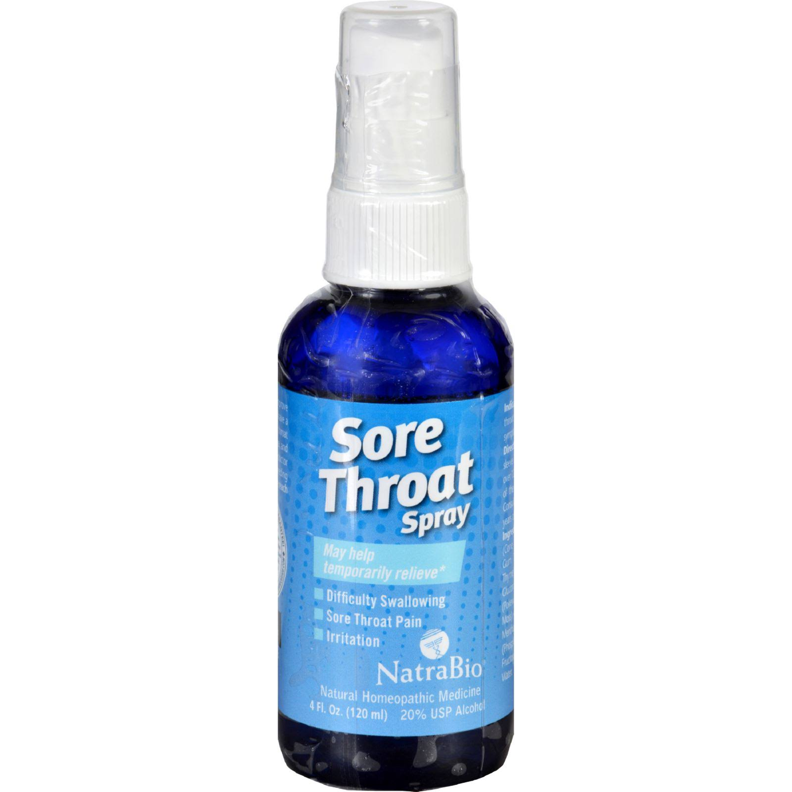 Natrabio Sore Throat Pain Relief Spray - 4oz