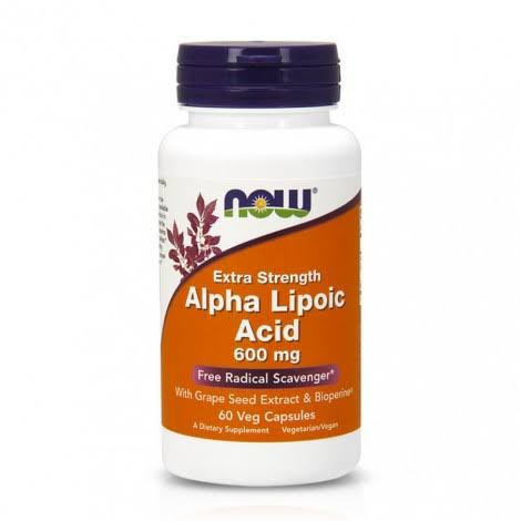 Now Foods Alpha Lipoic Acid - 600mg, 60 Vcaps