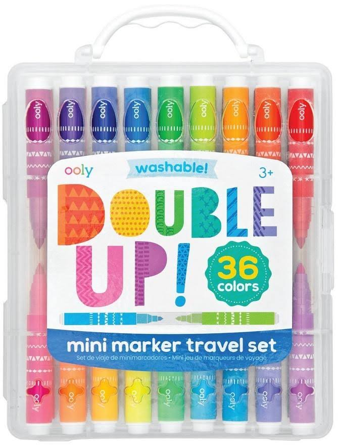 Ooly Double Up! 2 in 1 Mini Marker Travel Set