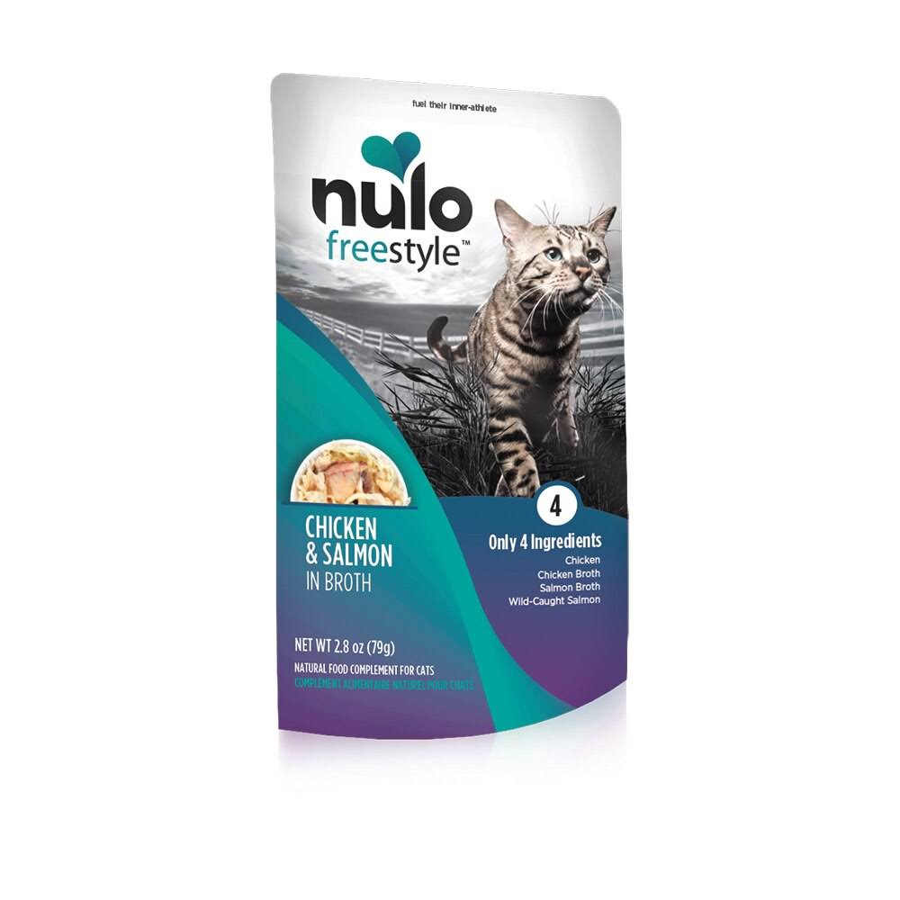 Nulo Freestyle Chicken, Salmon in Broth Wet Cat Food, 2.8 oz