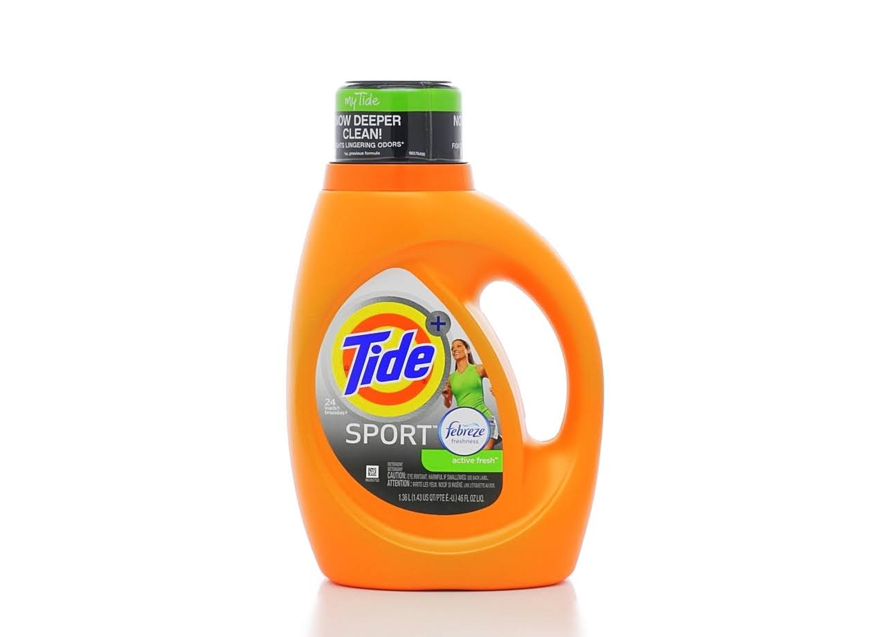 Tide Liquid Detergent - Sport Scent With Febreze