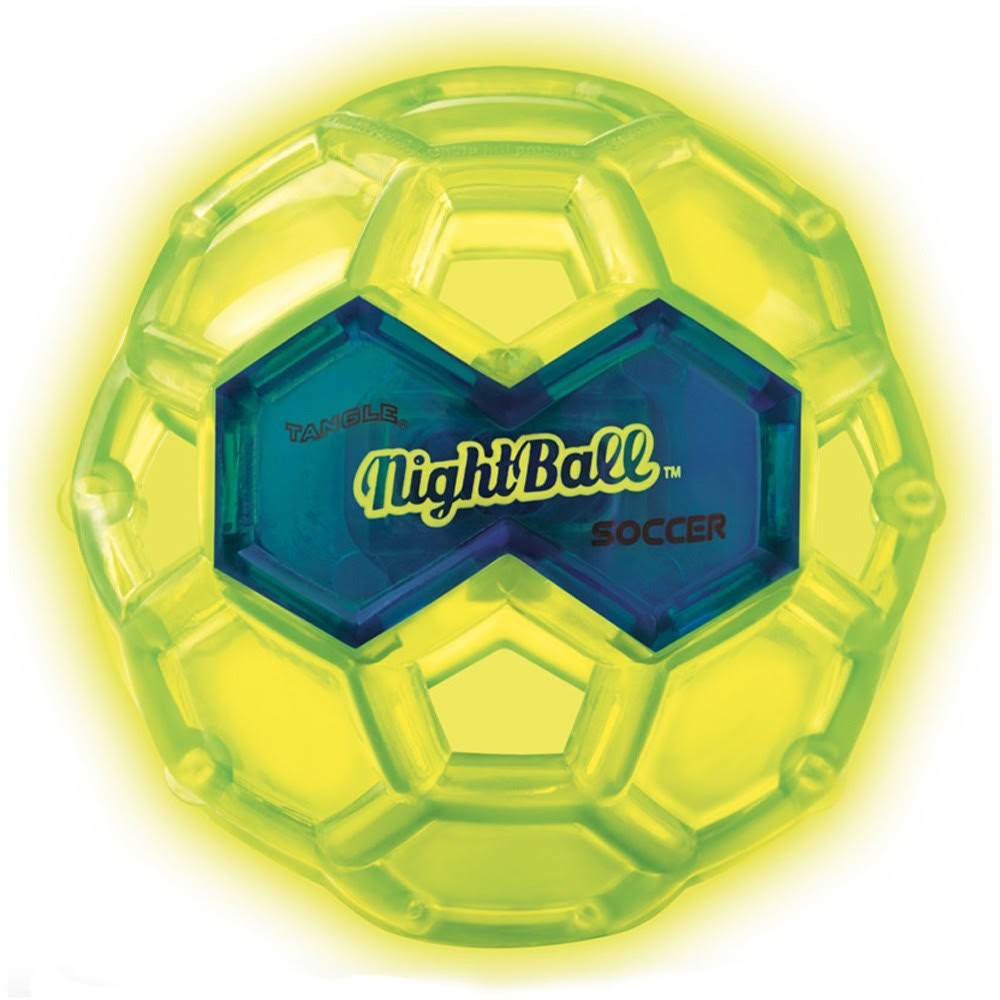 Tangle Sport Matrix Airless NightBall Soccer Toy - Green with Blue