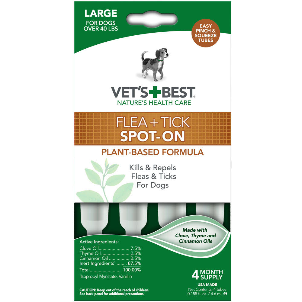 Vet's Best Topical Flea and Tick Dogs Treatment - Large Dog