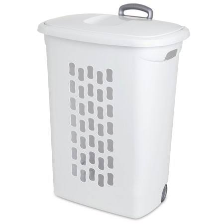 Sterilite Wheeled Laundry Hamper - White