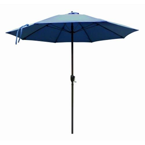 March Products Four Seasons Courtyard Umbrella - Sapphire Blue, 9'