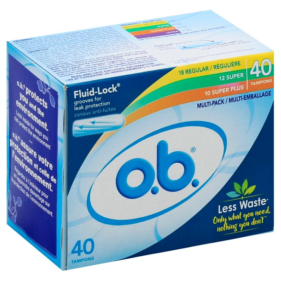 Ob Applicator Free Digital Tampons - 40 Count