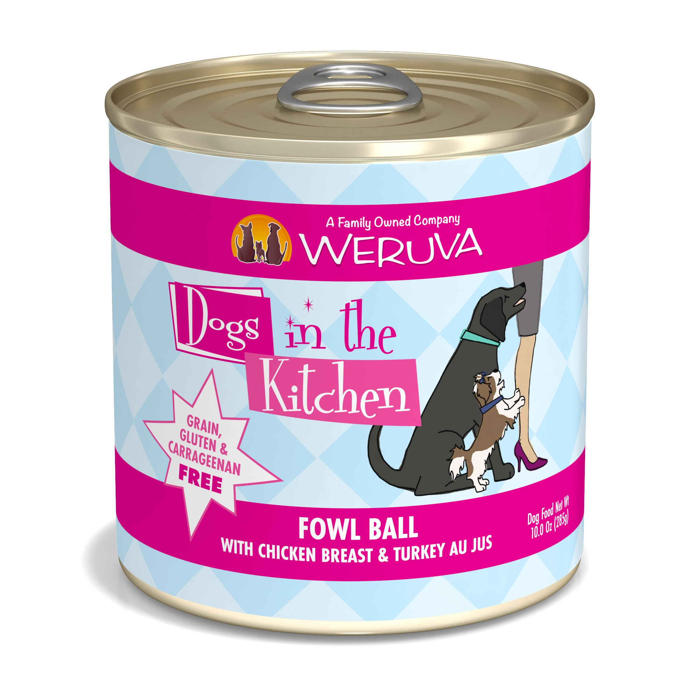 Weruva Dogs in The Kitchen Fowl Ball Wet Dog Food 10 oz