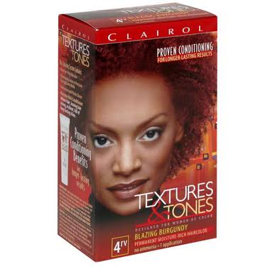 Clairol Textures and Tones Permanent Moisture Rich Hair Color - 4RV Blazing Burgundy