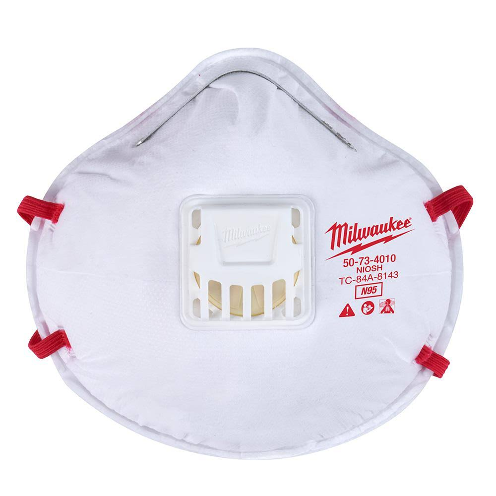 Milwaukee 48-73-4011 N95 Valved Respirator