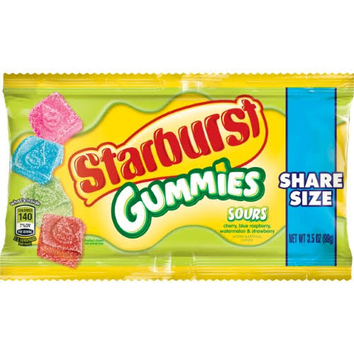 Starburst Sours Gummies - Share Size, 3.5oz