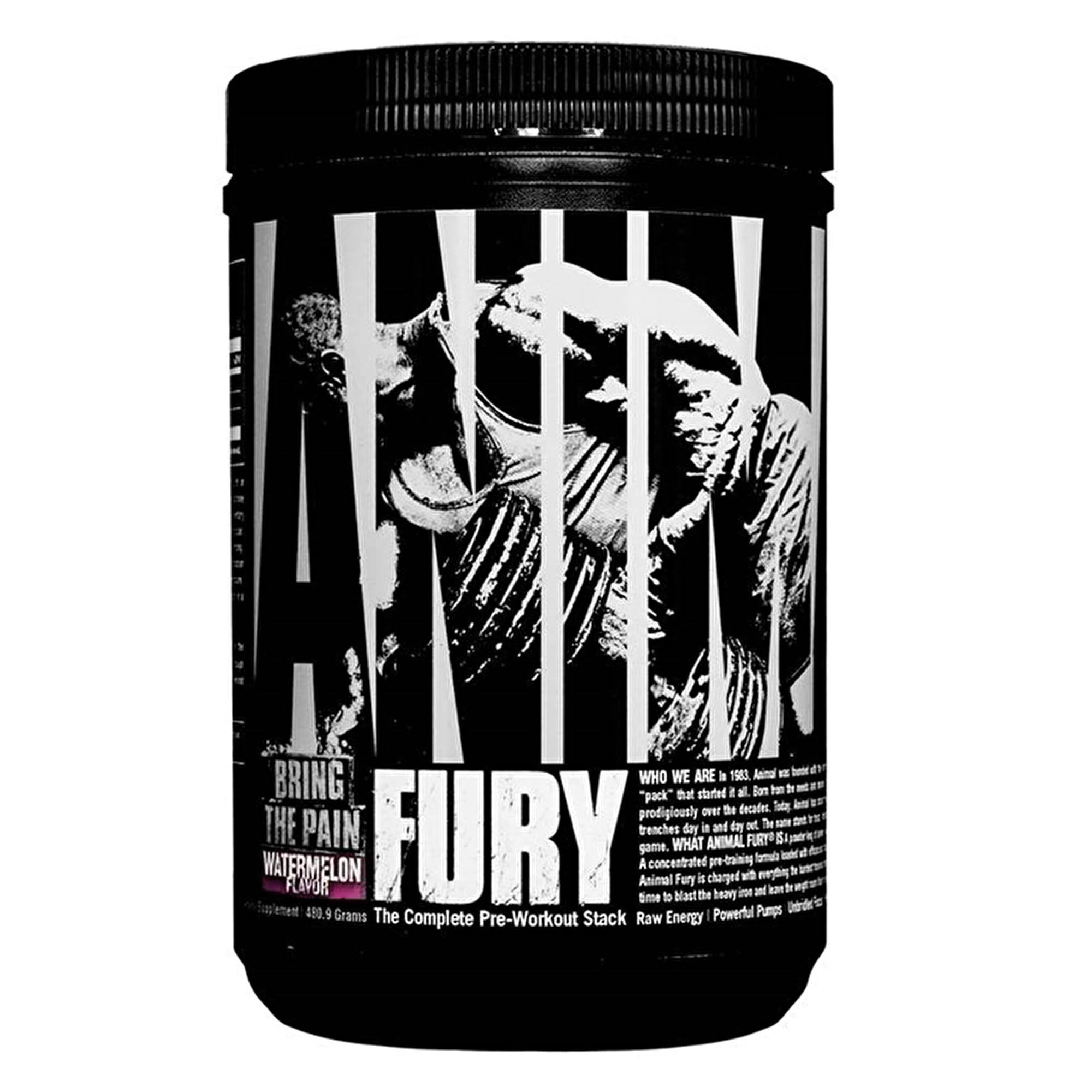 Universal Nutrition Animal Fury Pre Workout Energy Sports Supplement - Watermelon, 480g