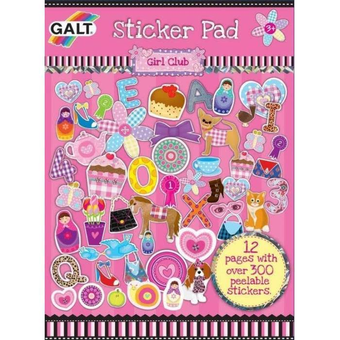 Galt Girl Club Sticker Pad - 12 Pages