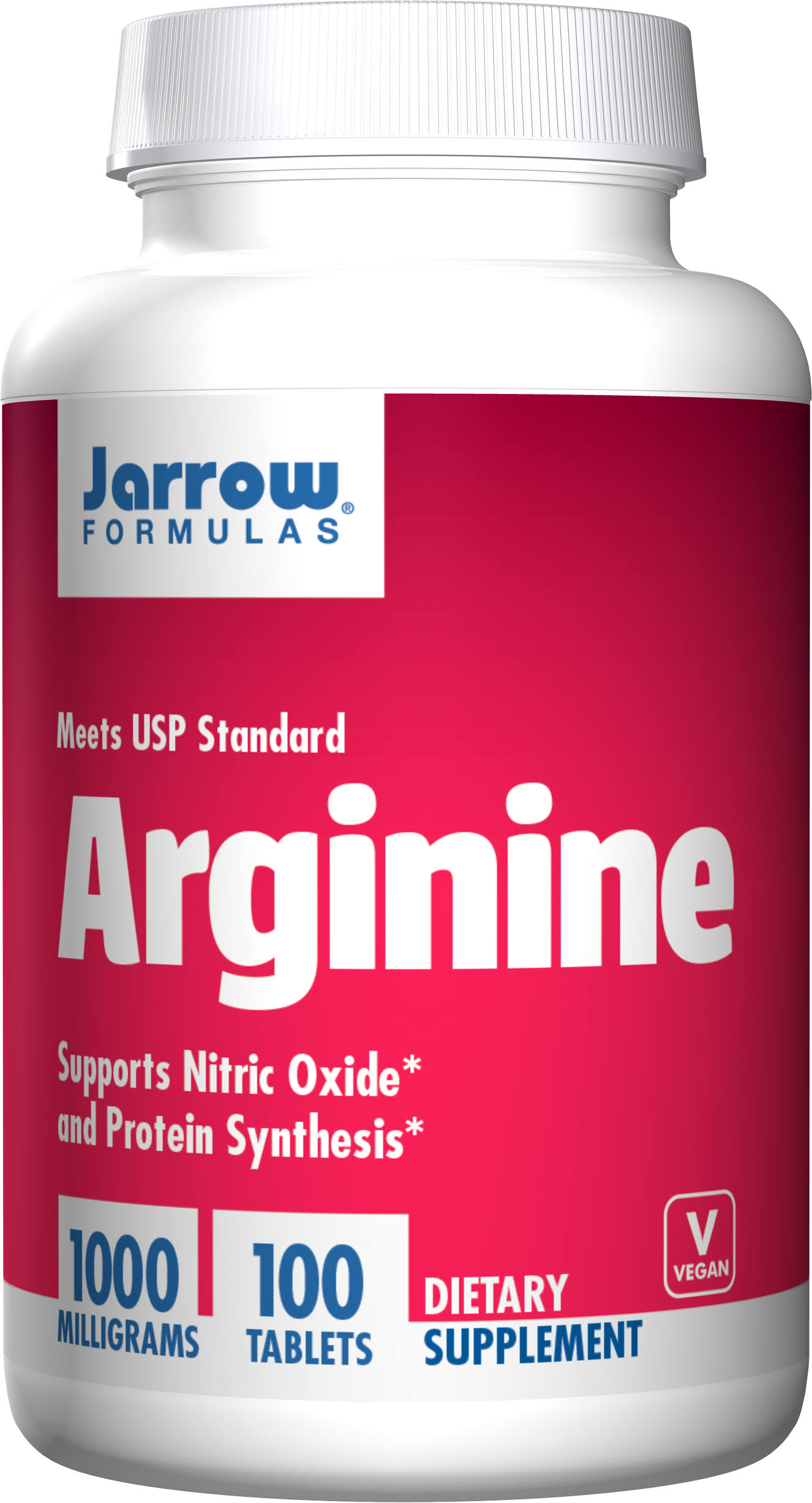 Jarrow Formulas L-Arginine Supplement - 1000mg, 100 Tablets