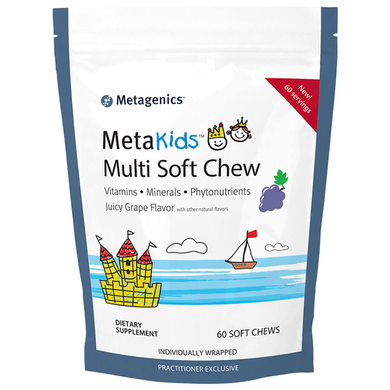 Metagenics MetaKids Multi Soft Chew Grape 60 Chews
