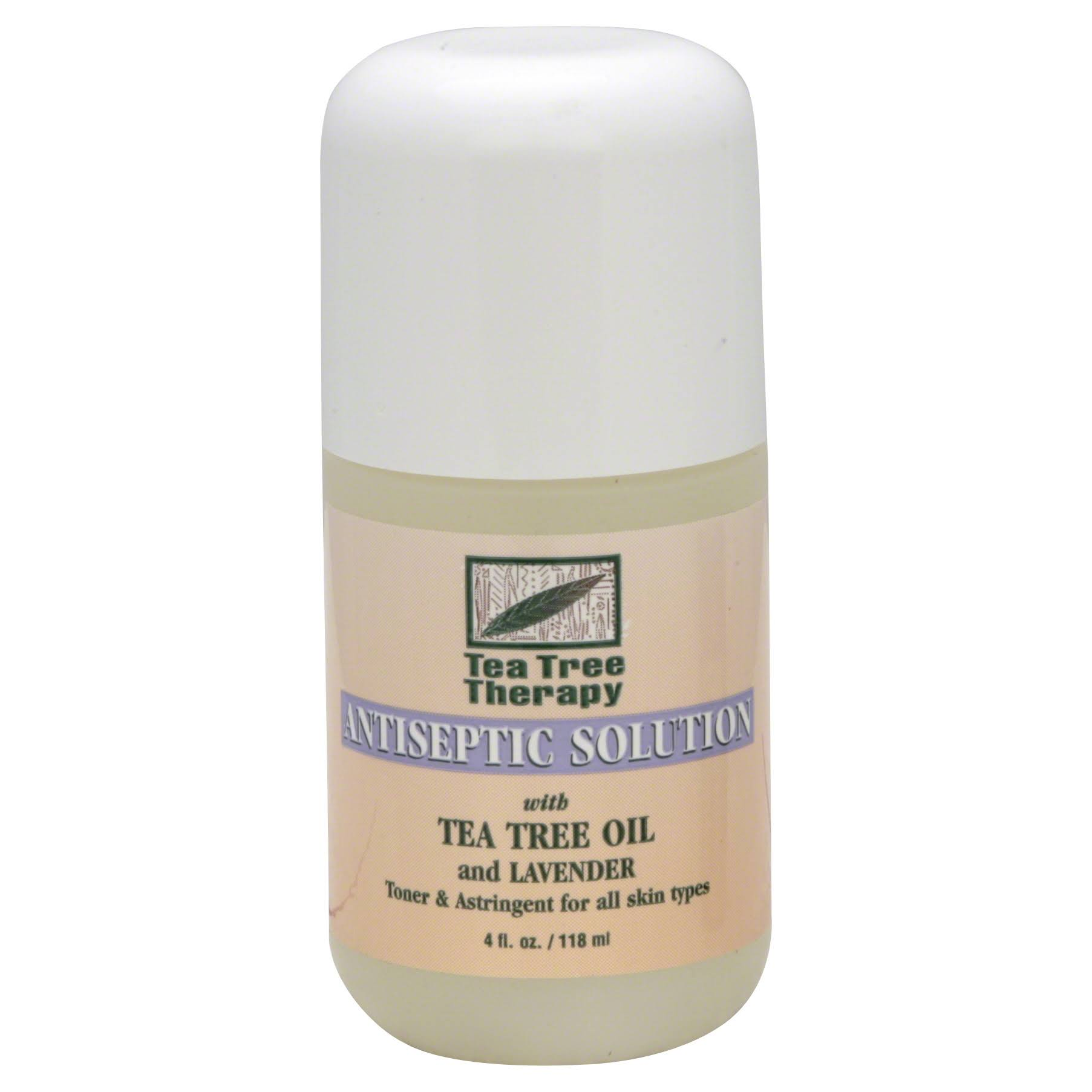Tea Tree Therapy Antiseptic Solution - Tea Tree Oil and Lavender, 4oz