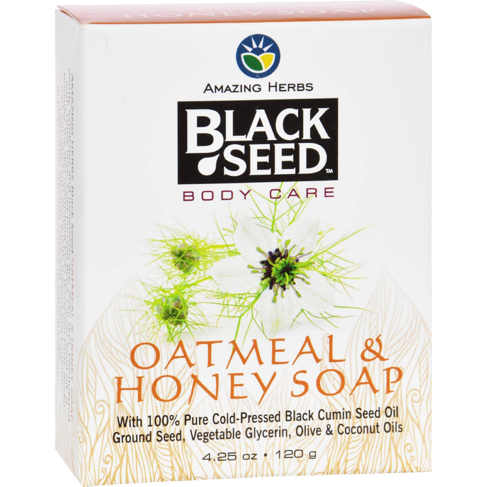 Amazing Herbs Black Seed Bar Soap - Oatmeal and Honey, 4.25oz