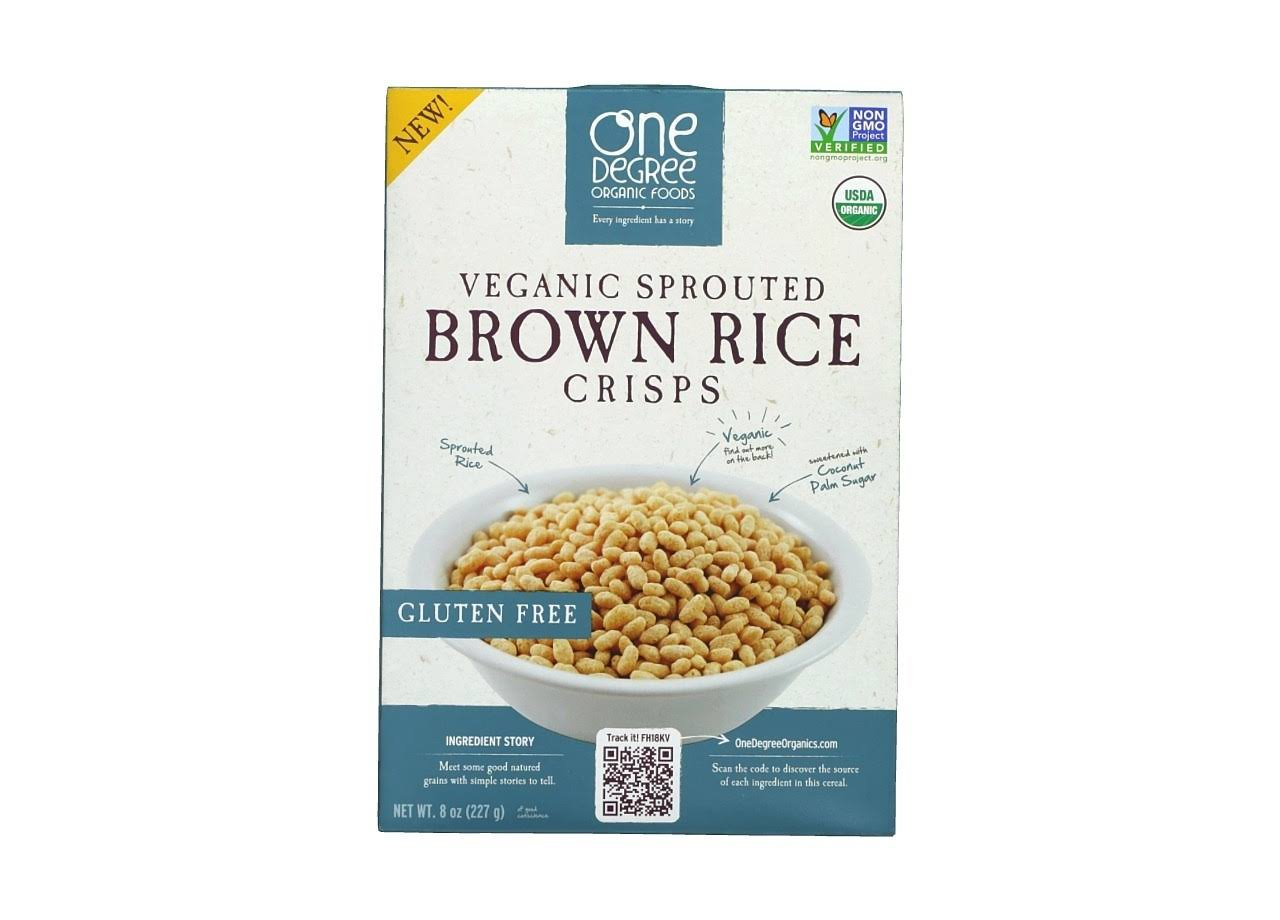One Degree Organic Foods Veganic Sprouted Brown Rice Crisps
