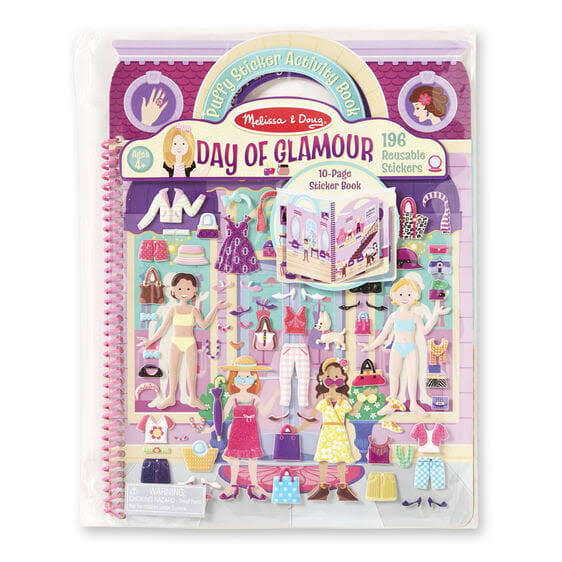 Melissa & Doug - 19412 - Deluxe Puffy Sticker Album - Day of Glamour