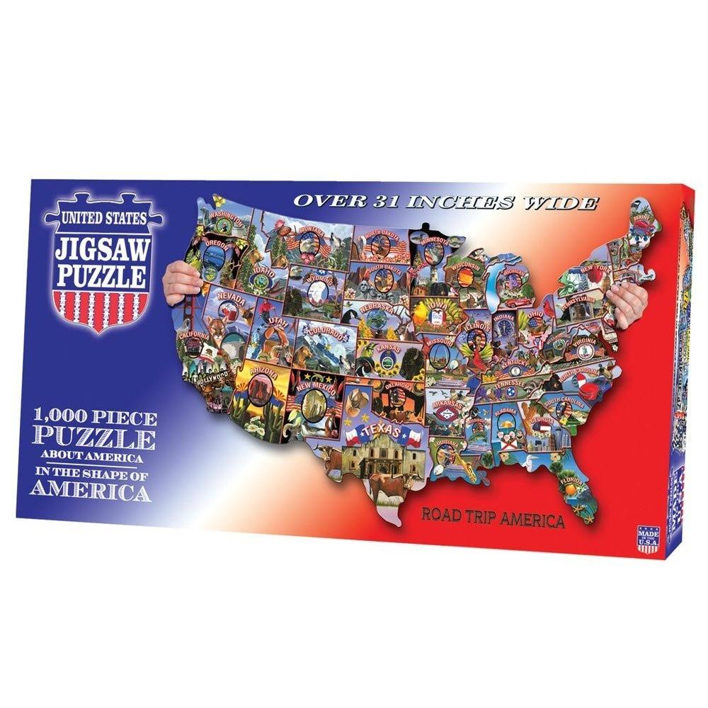 Tdc Games Usa Shaped Roadtrip America Puzzle