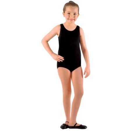 Danznmotion by Danshuz Girl's Tank Leotard 12-14 Black