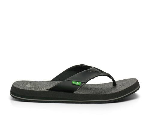 Sanuk Men's Beer Cozy Flip Flops - Brick Black, 7 US