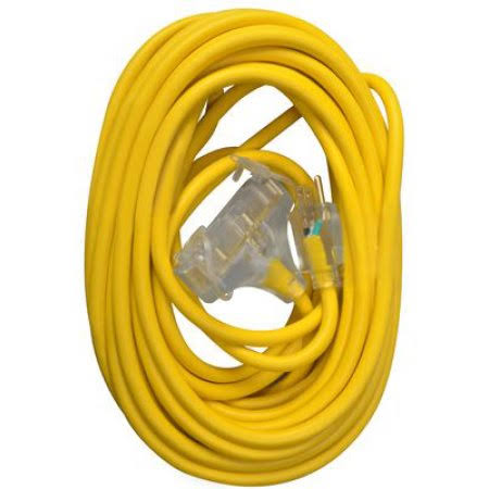 Master Electrician 04188ME Extension Cord - Yellow, 3 Outlet, 50'