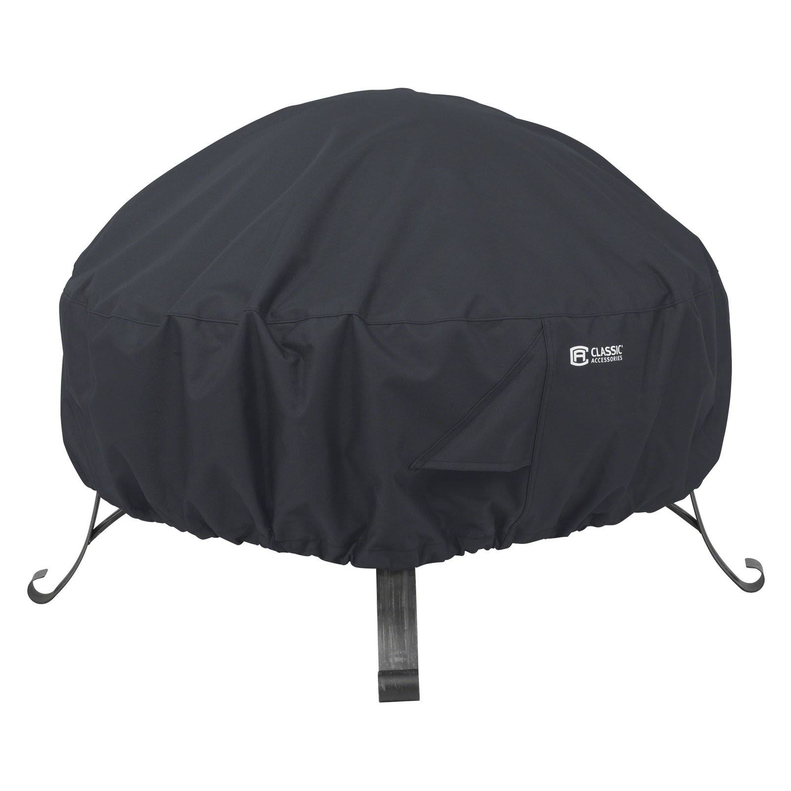 Classic Accessories Round Fire Pit Cover - Black, 36""
