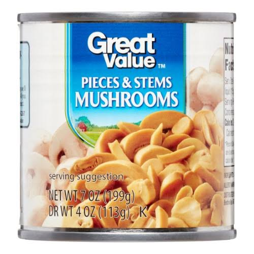 Great Value Pieces and Stems Mushrooms - 4oz