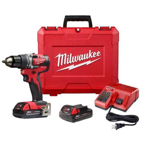 Milwaukee 2801-22CT M18 Cordless Compact Drill Driver Kit - Red