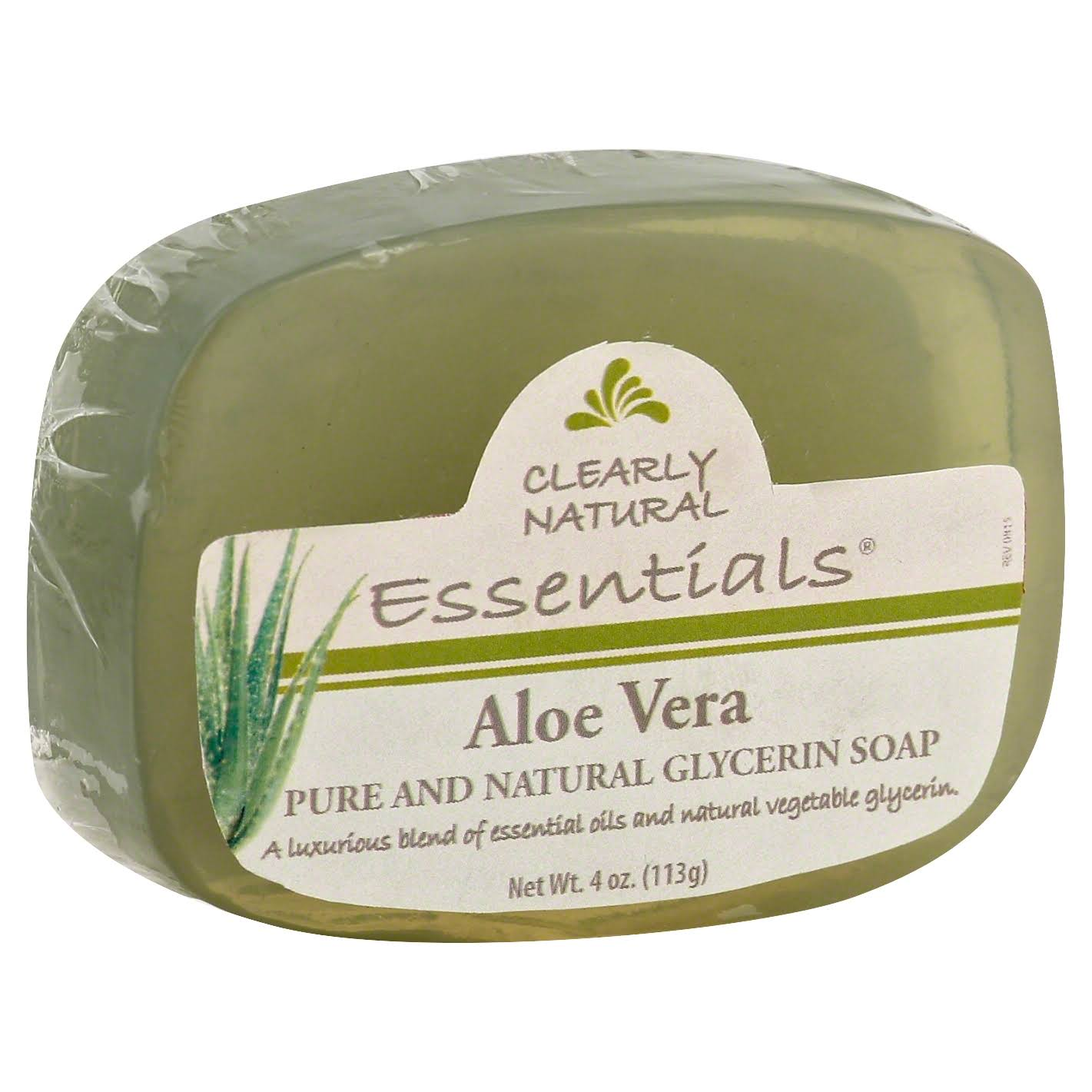 Clearly Natural Essentials Soap, Glycerin, Aloe Vera - 4 oz