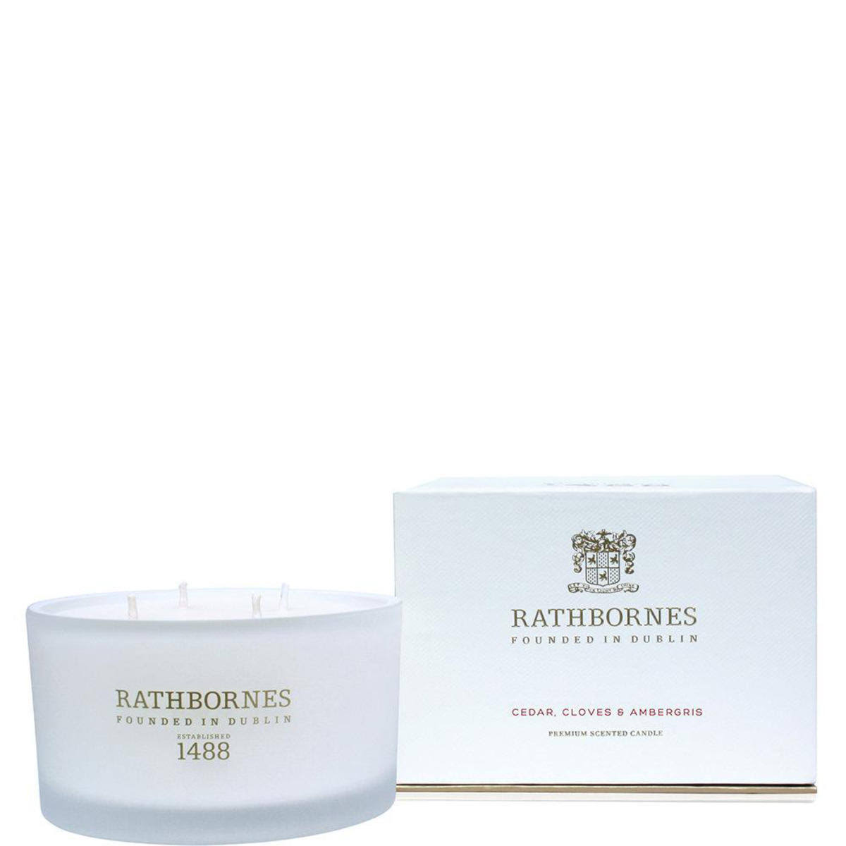 Rathbornes Scented Candle - Cedar Cloves and Ambergris