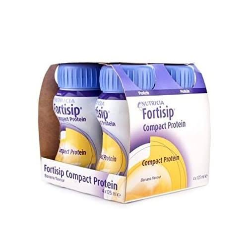 Fortisip Compact Protein Liquid - Banana, 4pcs