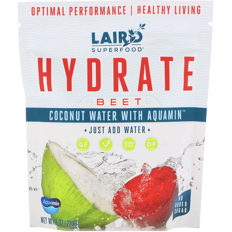 Laird Superfood Hydrate Coconut Water Mix, Beet 8 oz