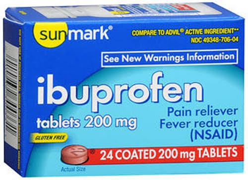 Sunmark Ibuprofen Pain Reliever - 200mg, 24ct