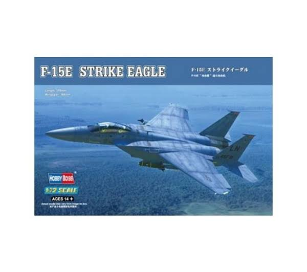 Hobby Boss F-15E Strike Eagle Strike Fighter Model Kit - 1/72 Scale