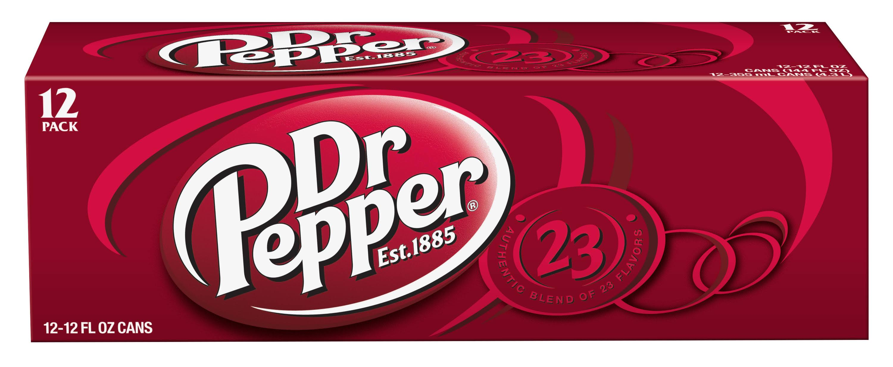 Dr. Pepper Soda - 12 Pack