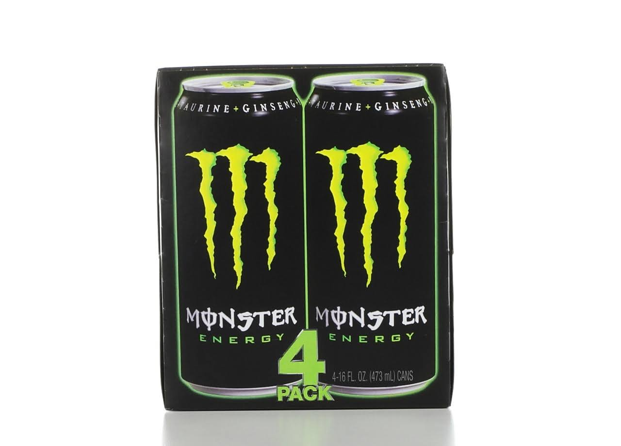 Monster Energy Drink - 4ct, 16oz