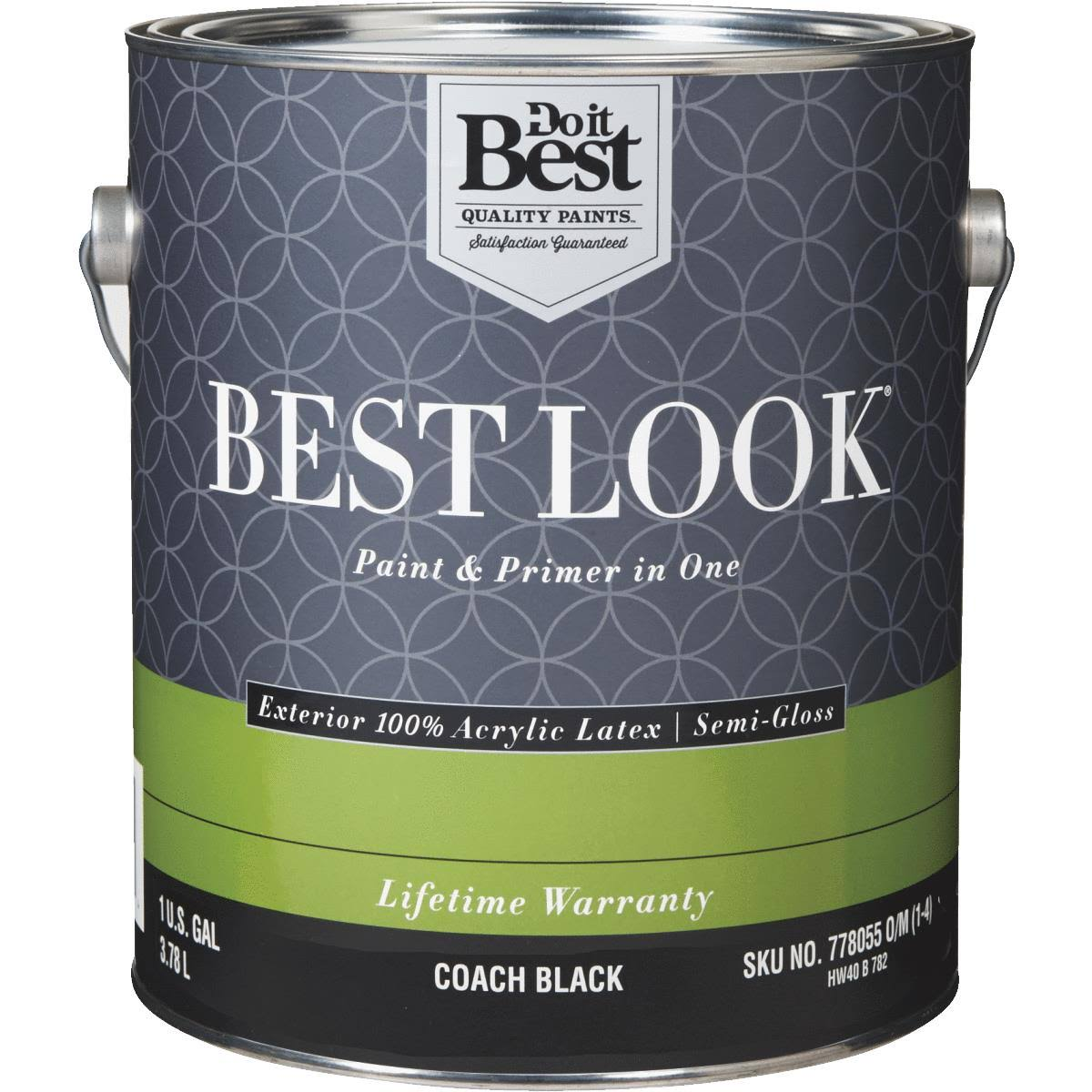 - HW40B0782-16 Best Look 100% Acrylic Latex Paint & Primer in One Semi-Gloss Exterior House Paint