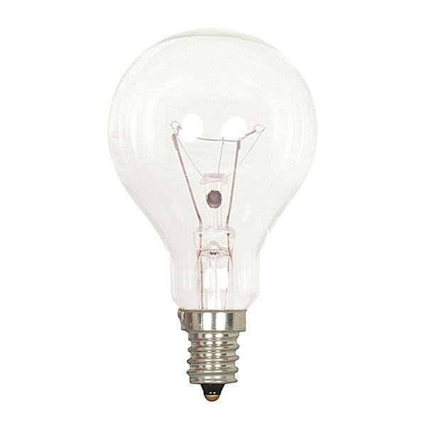 Satco Candelabra Base A15 Light Bulb - Clear, 40W, 120V