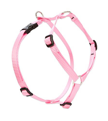Lupine Solid Pink Roman Style Dog Harness