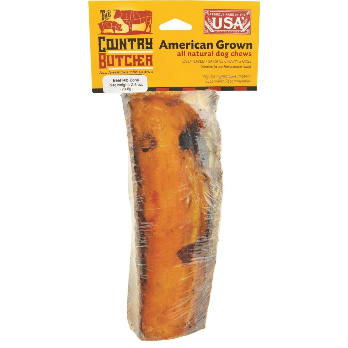 The Country Butcher 07666 Chew Bone - Beef Rib, 2.6oz